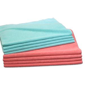 マイクロファイバータオル濃色ピンク・濃色ブルー