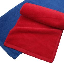 240匁シャーリングマフラータオル赤・紺